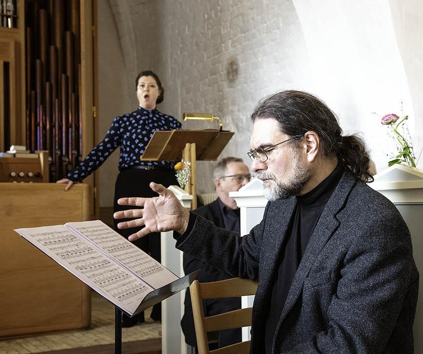 Heidi Montan og Bjørn Monberg ved velgørenhedskoncer i Bregninge Kirke
