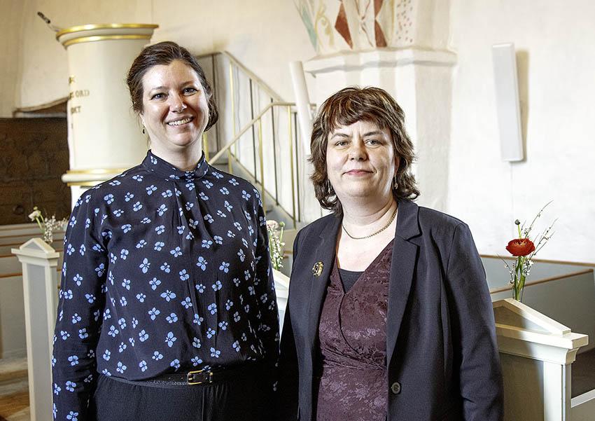 Heidi Montan og sognepræst Christina Morsing